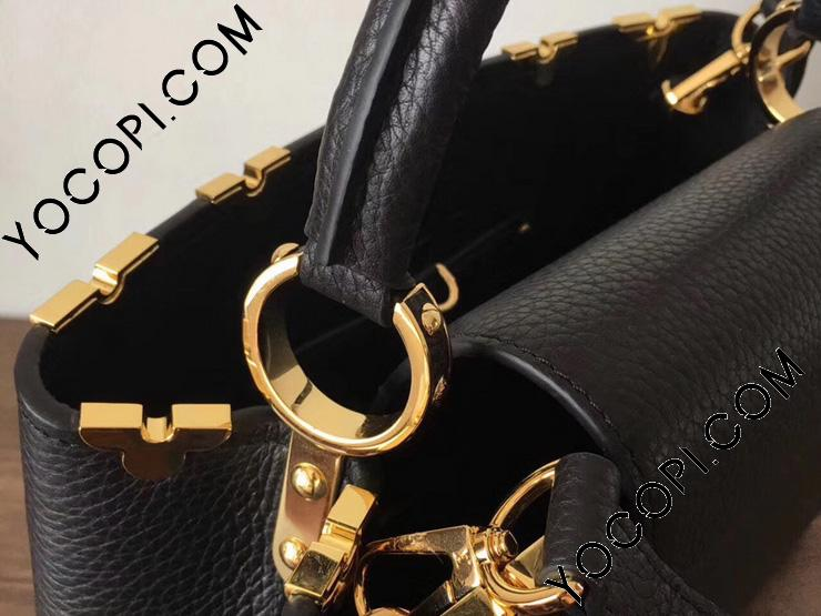 【M54663】 LOUIS VUITTON ルイヴィトン トリヨン バッグ コピー カプシーヌ PM Capucines ハンドバッグ ヴィトン レディース ショルダーバッグ 2色 ブラック
