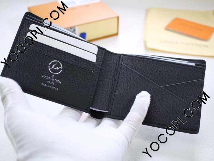 【M61695】 ルイヴィトン モノグラム・エクリプス 財布 スーパーコピー 「LOUIS VUITTON」 ポルトフォイユ・ミュルティプル ヴィトン メンズ 人気 二つ折り財布
