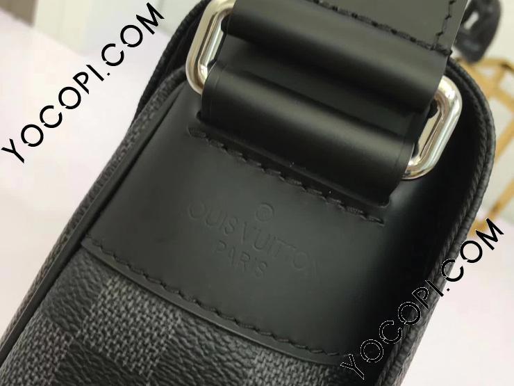 【N41028】 LOUIS VUITTON ルイヴィトン メンズ メッセンジャーバッグ ディストリクト PM NM ヴィトン ダミエ・グラフィット バッグ コピー