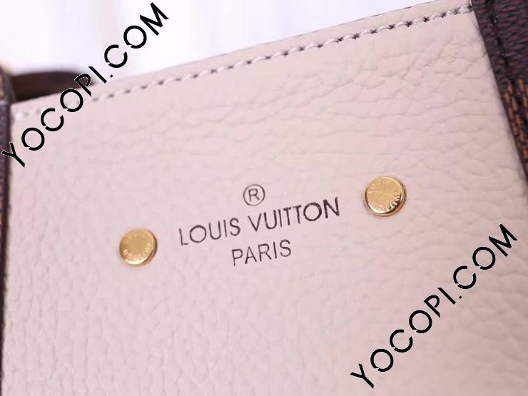【N44022】 LOUIS VUITTON ルイヴィトン ダミエ・エベヌ バッグ コピー ジャージー トートバッグ ヴィトン レディース ショルダーバッグ 2WAY 3色可選択 ベージュ