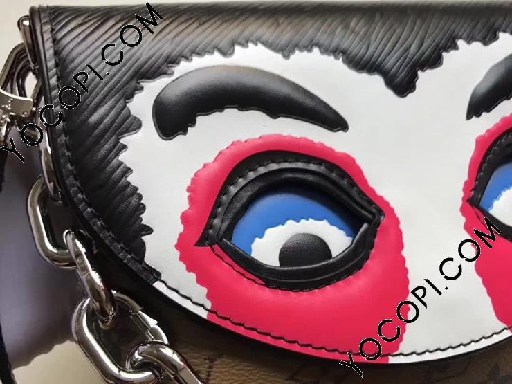 【M43495】 LOUIS VUITTON ルイヴィトン モノグラム・リバース バッグ コピー ポシェット・カブキ マスク ヴィトン エピ レディース チェーンショルダーバッグ 山本寛斎