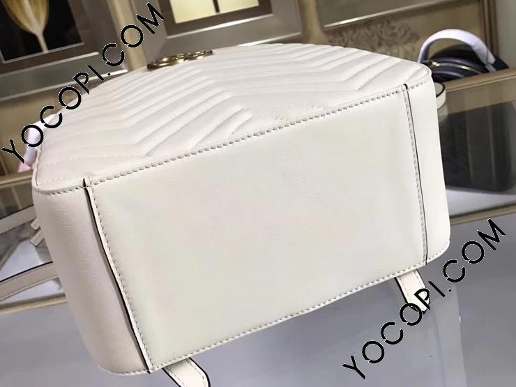 【476671 DTDHD 9022】 GUCCI グッチ GGマーモント バッグ スーパーコピー GG Marmont キルティングレザー レディース バックパック 6色可選択 ホワイト レザー