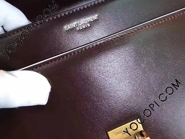 SAINT LAURENT ハイスクール・サンローラン サッチェル レディース バッグ スーパーコピー ショルダーバッグ・ポシェット 2色 バーガンディ レザー 30cm 【434423 6263】
