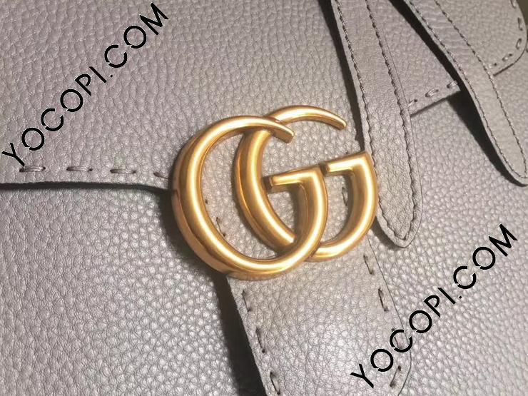 【421890 A7M0T 1711】 GUCCI グッチ GGマーモント バッグ スーパーコピー GG Marmont トップハンドルバッグ レディース ショルダーバッグ 2色可選択 グレー レザー