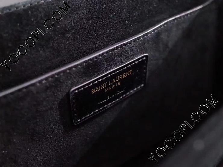 【482044D423W1000】 Saint Laurent サンローラン レディース バッグ コピー ベルシャス サンローランバッグ ミディアム/ブラック/レザー&スエード