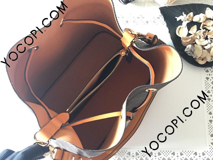 【M43430】 LOUIS VUITTON ルイヴィトン モノグラム バッグ スーパーコピー ネオノエ ヴィトン レディース ショルダーバッグ 5色可選択 オレンジ